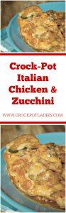Crock-Pot Italian Chicken & Zucchini