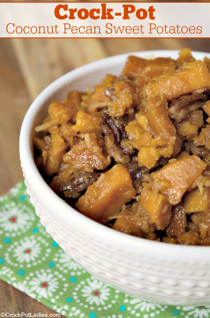 Crock-Pot Coconut Pecan Sweet Potatoes
