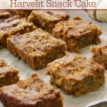 Crock-Pot Pumpkin Apple Harvest Snack Cake - Eat a slice of this healthy and easy to make Crock-Pot Pumpkin Apple Harvest Snack Cake for a snack, dessert or even breakfast. Filled with pumpkin, spices, apples, and nuts (if you want them) this moist cake is delicious. [High Fiber, Low Calorie, Low Fat, Low Sodium & Vegetarian]