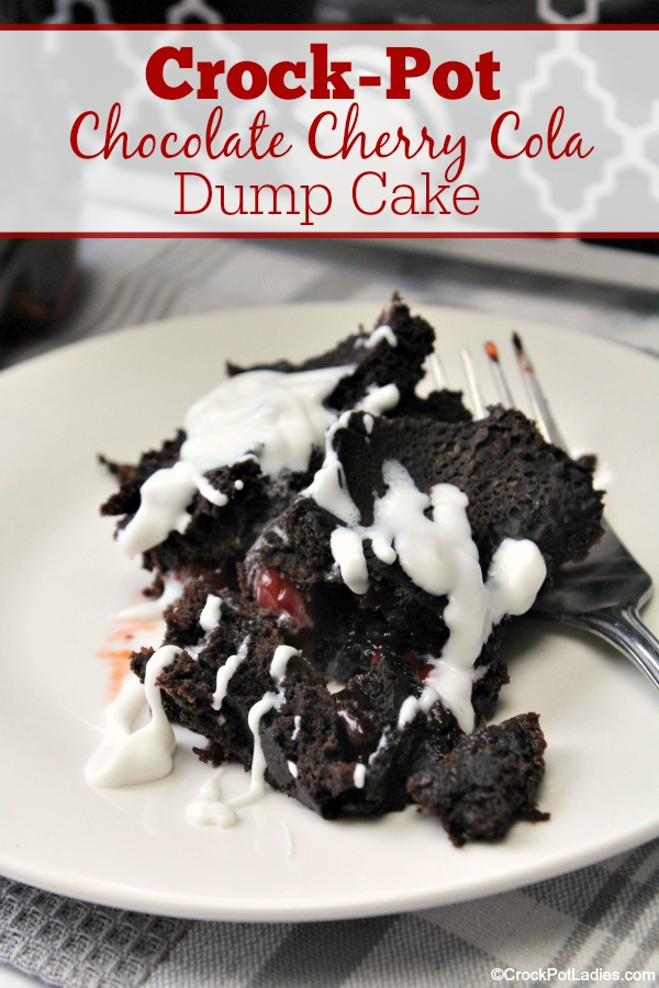 Crock-Pot Chocolate Cherry Cola Dump Cake