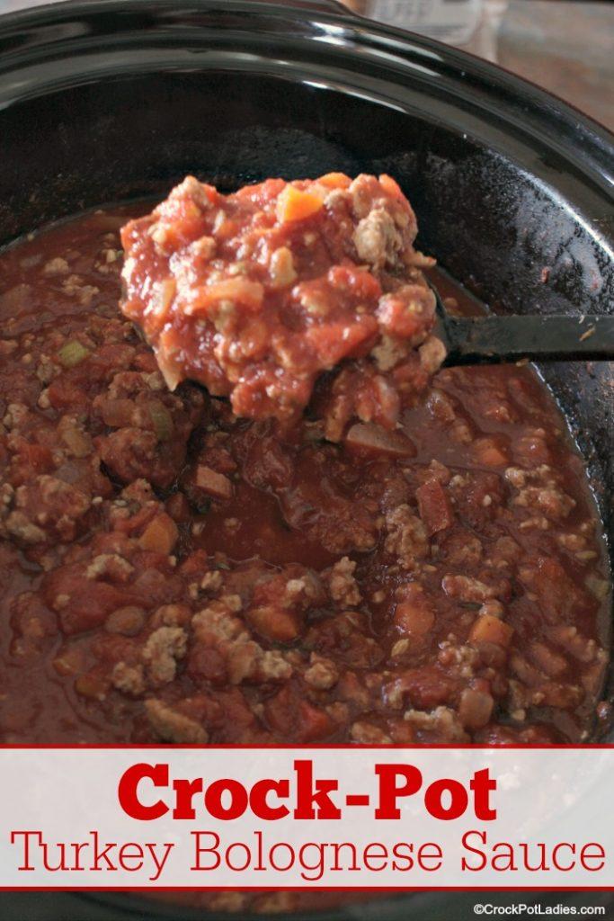 Crock-Pot Turkey Bolognese Sauce