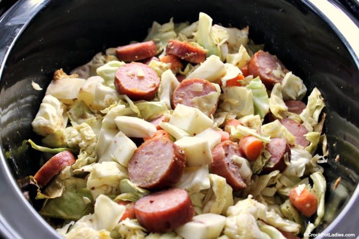 Crock-Pot Cabbage, Kielbasa Sausage and Potatoes