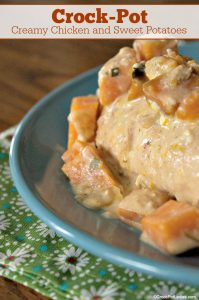 Crock-Pot Creamy Chicken and Sweet Potatoes