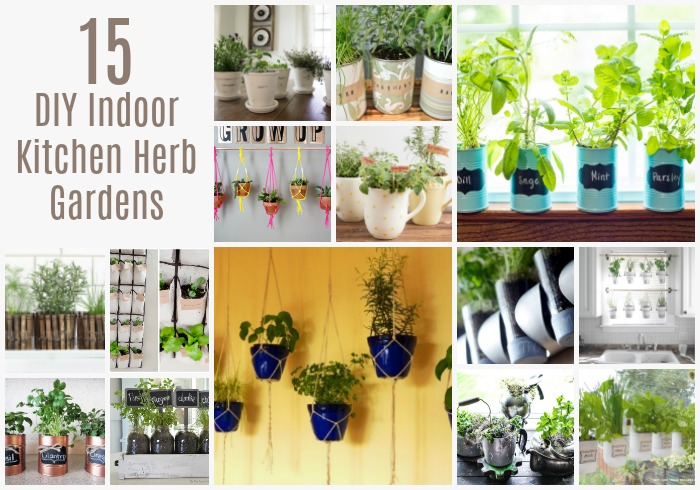 15 Diy Indoor Kitchen Herb Gardens Crock Pot Ladies
