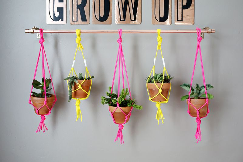 Copper Pipe Hanging Planter