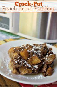 Crock-Pot Peach Bread Pudding