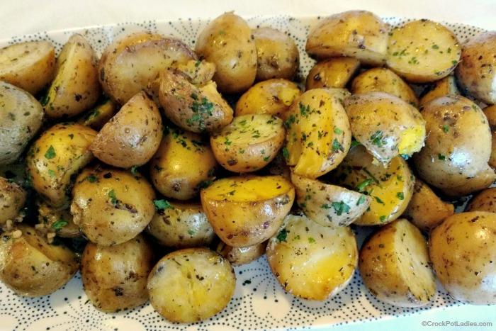 Crock-Pot Parmesan Garlic Potatoes