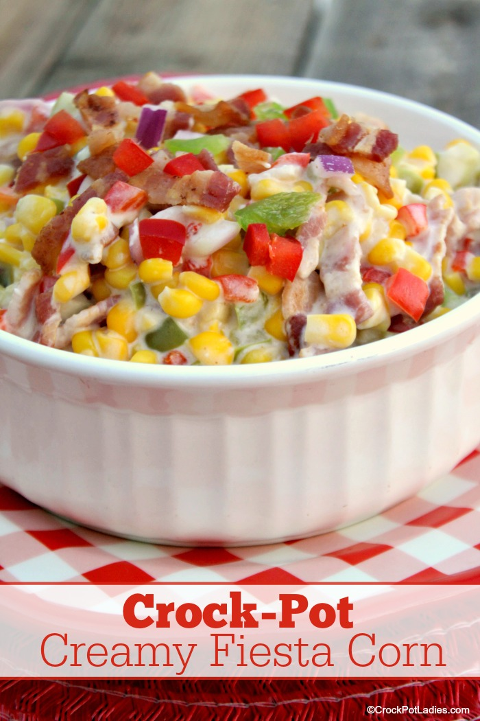 Crock-Pot Creamy Fiesta Bacon Corn
