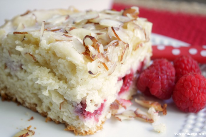 Crock-Pot Raspberry Almond Coffee Cake