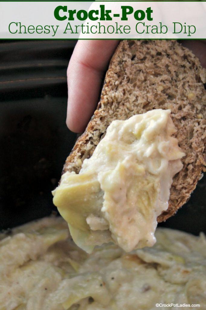 Crock-Pot Cheesy Artichoke Crab Dip