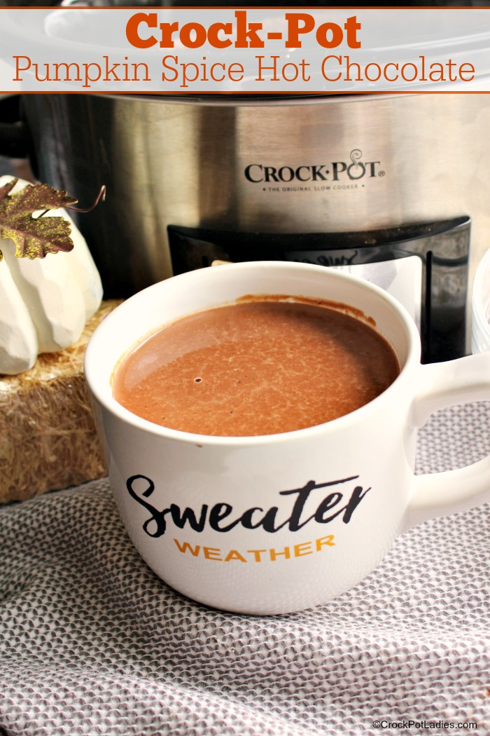 Crock-Pot Pumpkin Spice Hot Chocolate