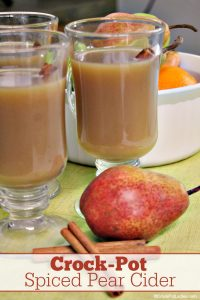 Crock-Pot Spiced Pear Cider