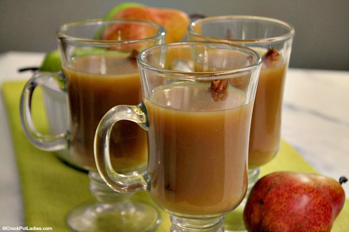 Crock-Pot Spiced Pear Cider