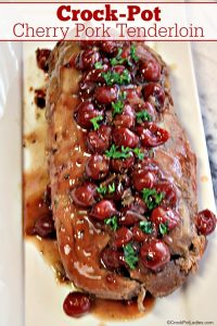 Crock-Pot Cherry Pork Tenderloin