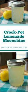 Crock-Pot Lemonade Moonshine