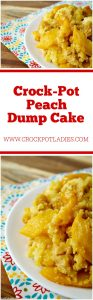 Crock-Pot Peach Dump Cake