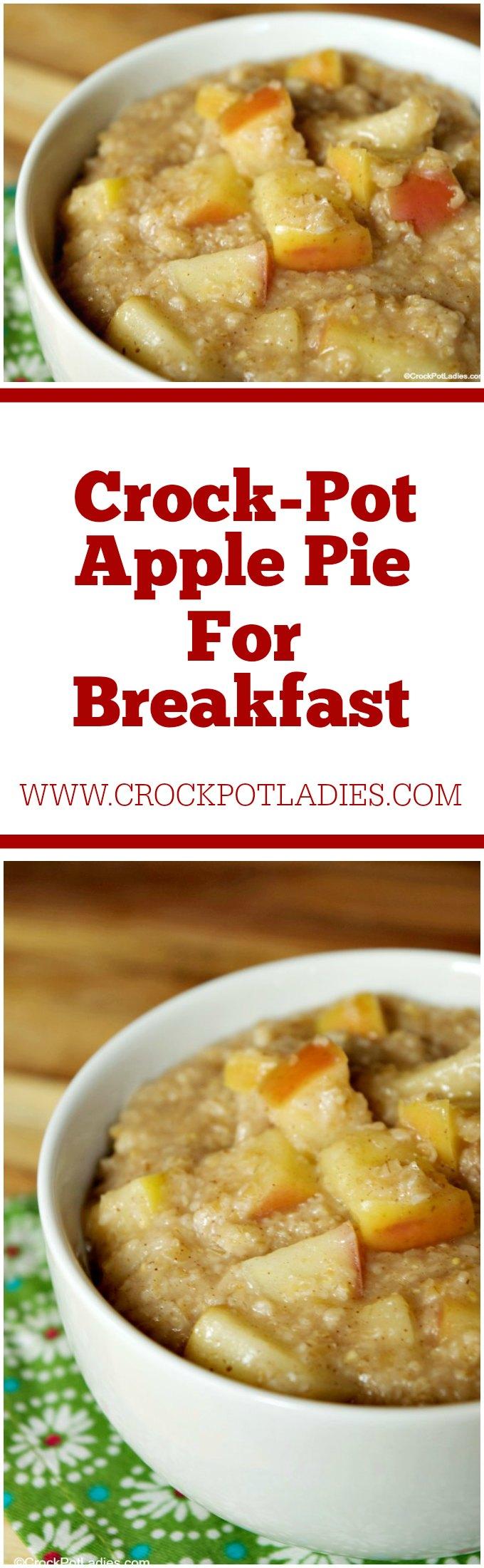 Crock-Pot Apple Pie for Breakfast