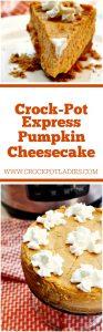 Crock-Pot Express Pumpkin Cheesecake