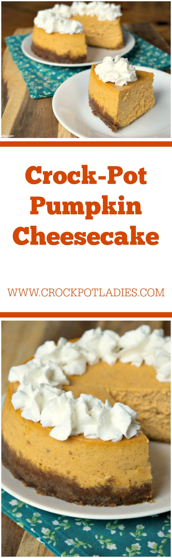 Crock-Pot Pumpkin Cheesecake