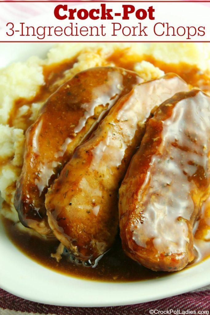 Crock-Pot 3-Ingredient Pork Chops