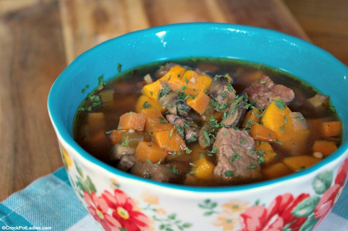 Crock-Pot Beef and Sweet Potato Soup
