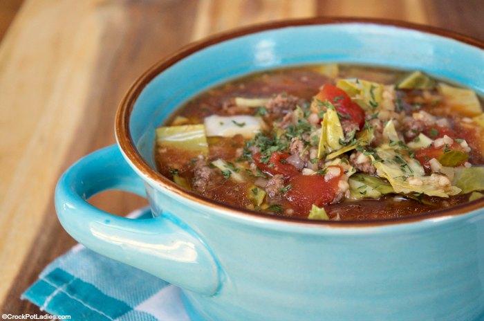 Crock-Pot Cabbage Roll Soup
