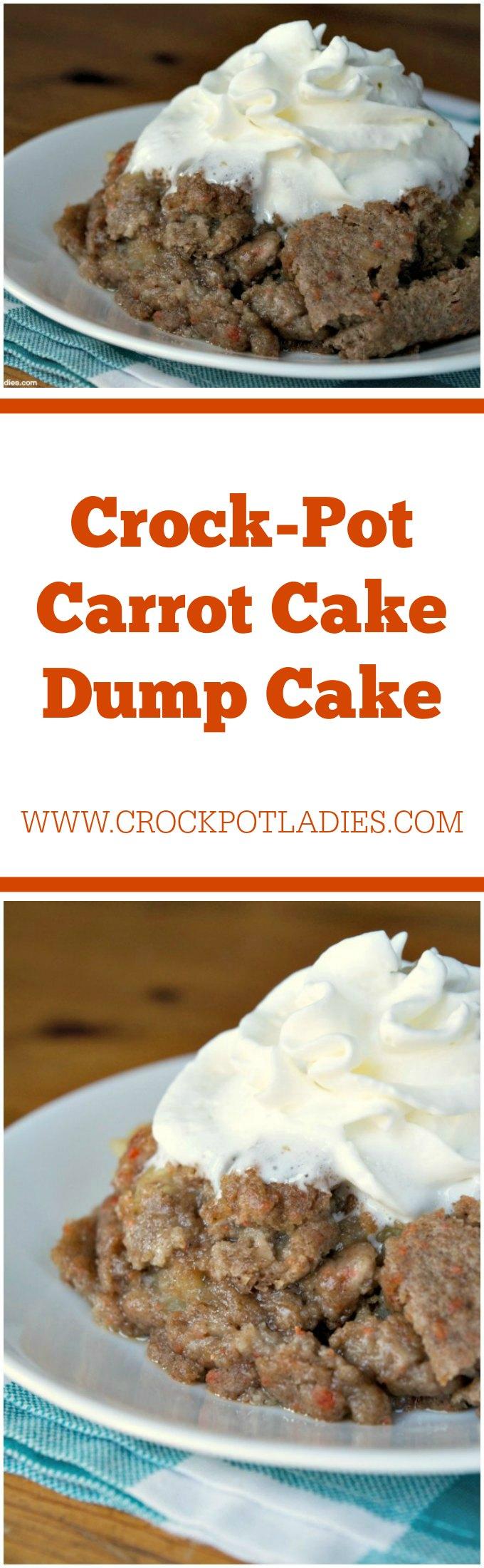 Crock-Pot Carrot Cake Dump Cake