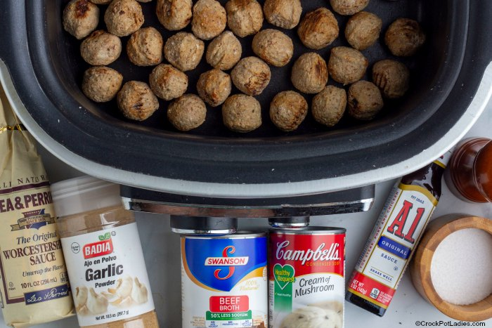 Ingredients For Crock-Pot Swedish Meatballs