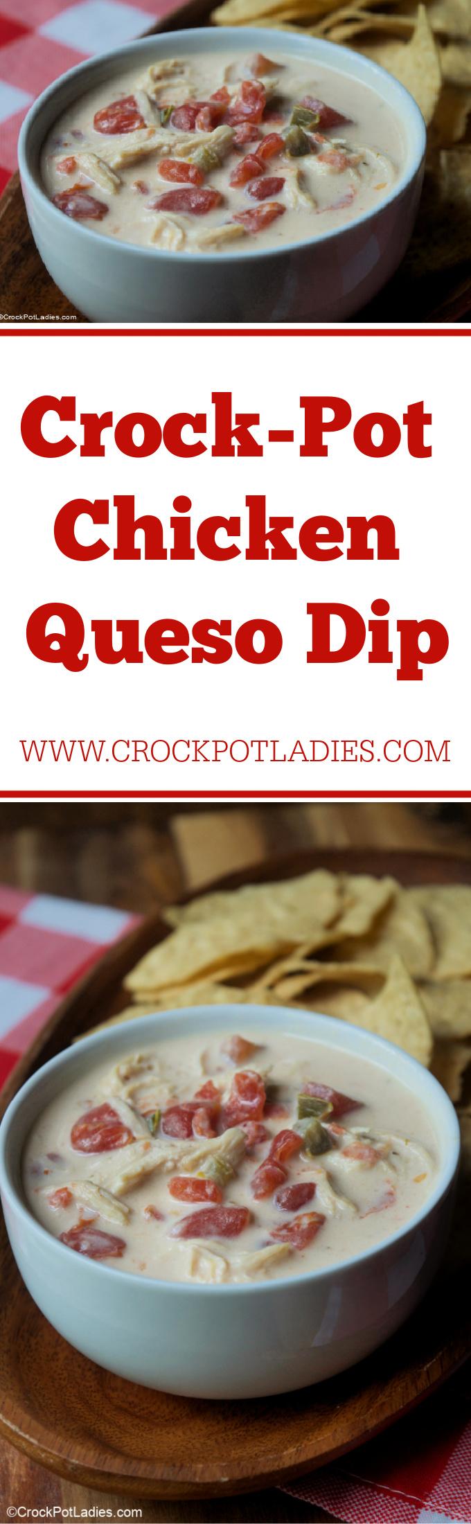 Crock-Pot Chicken Queso Dip