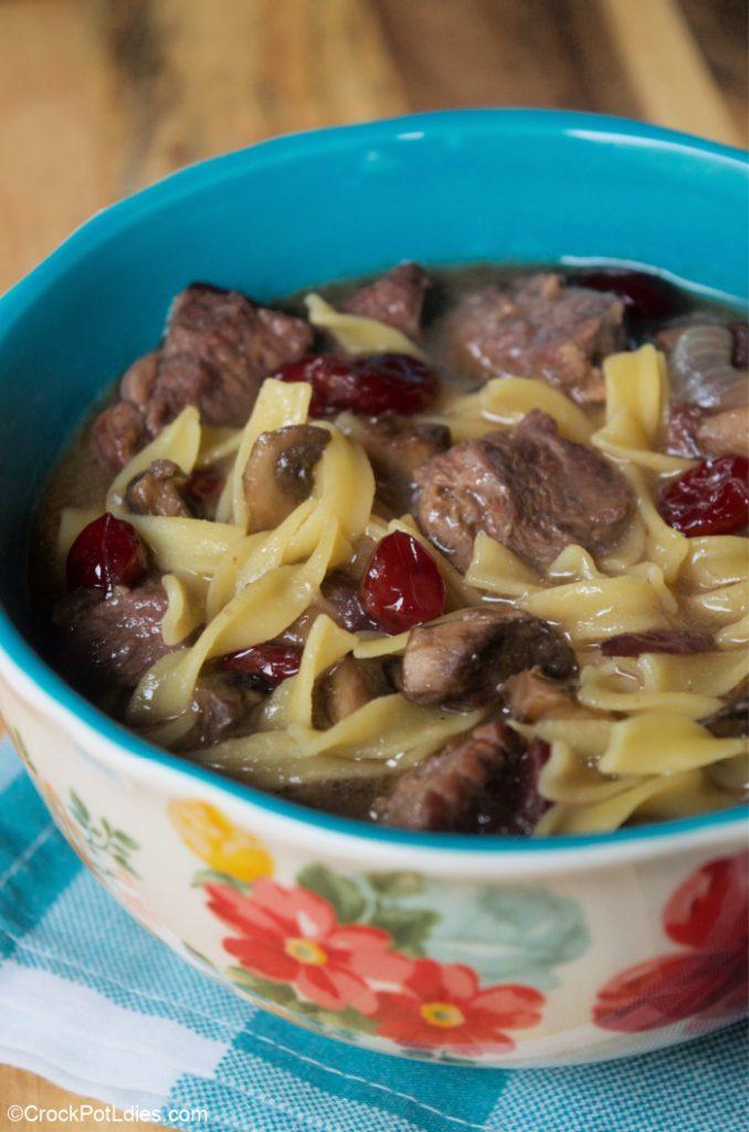 Crock-Pot Cranberry Beef Stew