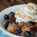 Crock-Pot Express Blueberry Peach Cobbler