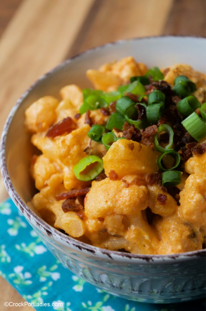 Crock-Pot Bacon Buffalo Cauliflower