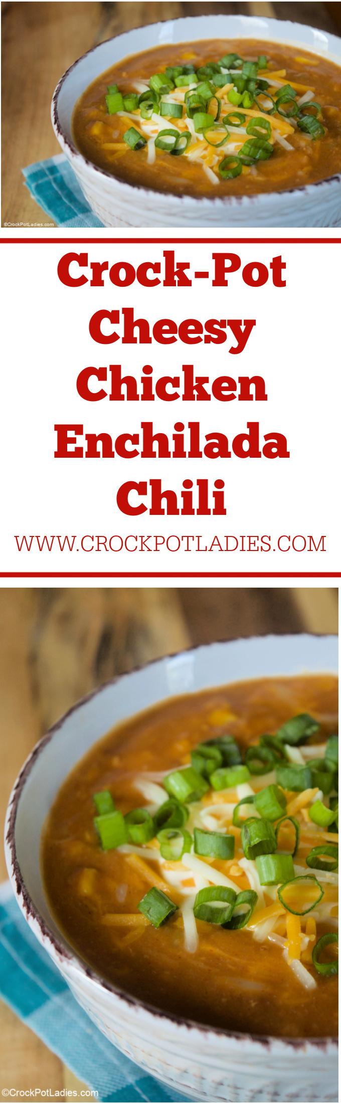 Crock-Pot Cheesy Chicken Enchilada Chili