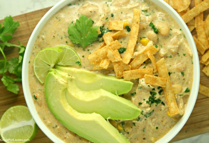 Crock-Pot Creamy White Chicken Chili