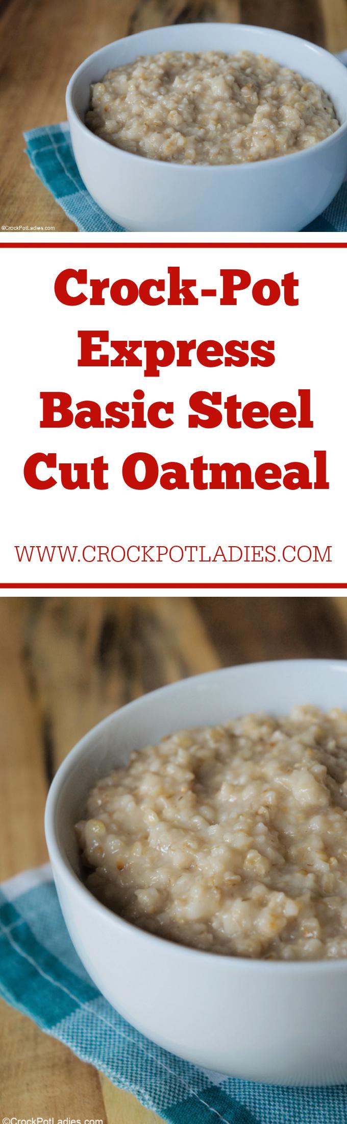 Crock-Pot Express Basic Steel Cut Oatmeal
