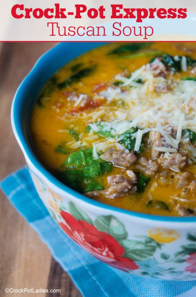 Crock-Pot Express Tuscan Soup