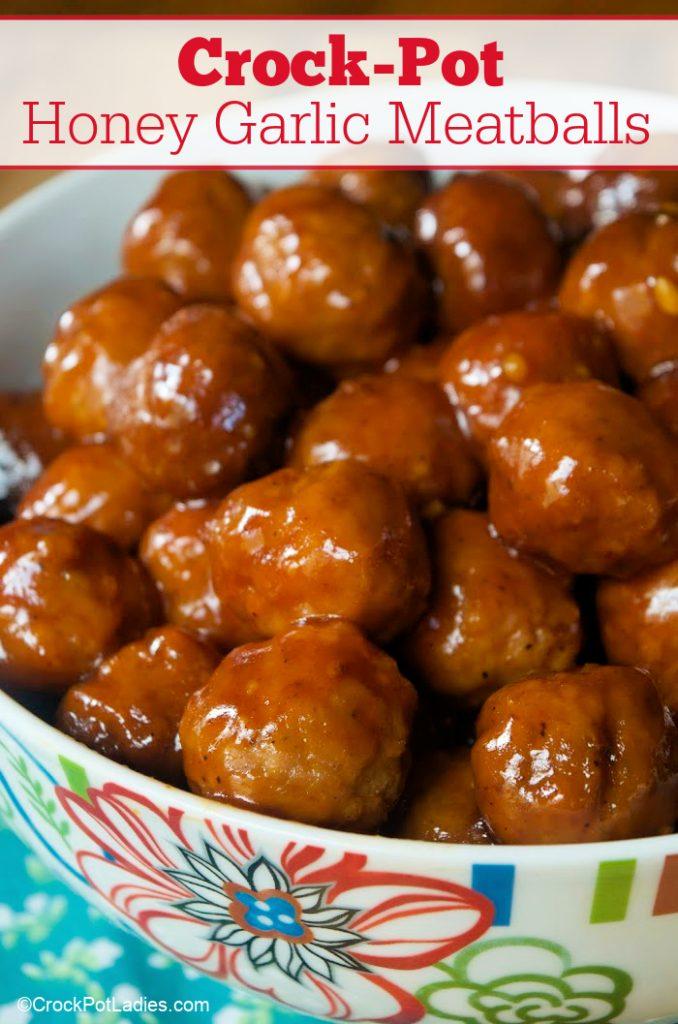 Crock-Pot Honey Garlic Meatballs
